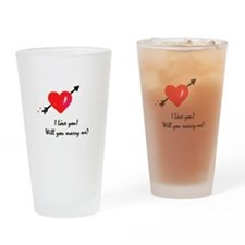 I love you Marriage proposal Drinking Glass