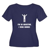 Adjective Verb Nouns Women's Plus Size Scoop Neck