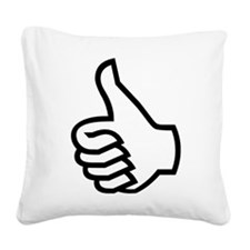 Thumbs Up Square Canvas Pillow