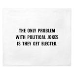 Political Jokes Elected King Duvet
