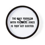 Political Jokes Elected Wall Clock