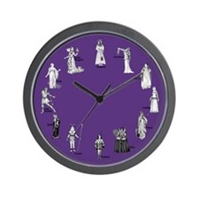 Shakespeare's Women Purple Wall Clock