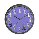 Shakespeare's Women Blue Wall Clock