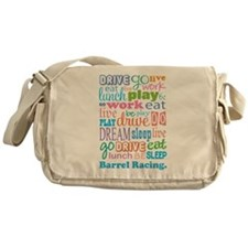 Barrel Racing Messenger Bag