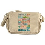 Billiards Messenger Bag
