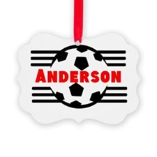 Personalized Soccer Ornament