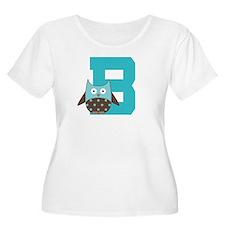 Letter B Owl Monogram Initial T-Shirt