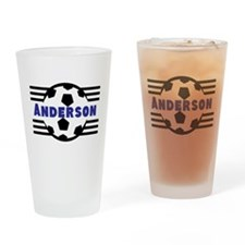 Personalized Soccer Drinking Glass