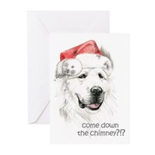 Cute Great pyrenees christmas Greeting Cards (Pk of 20)