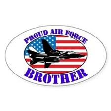 Proud Air Force Brother Oval Decal