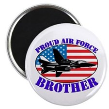 "Proud Air Force Brother 2.25"" Magnet (100 pack)"
