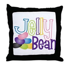 Jelly Bean Throw Pillow