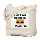 I Left My Heart In Uganda Tote Bag