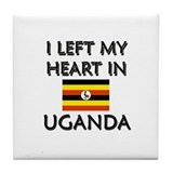 I Left My Heart In Uganda Tile Coaster