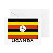 Uganda Flag Merchandise Greeting Cards (Package of