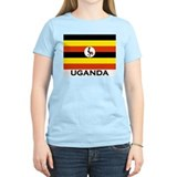 Uganda Flag Merchandise Women's Pink T-Shirt