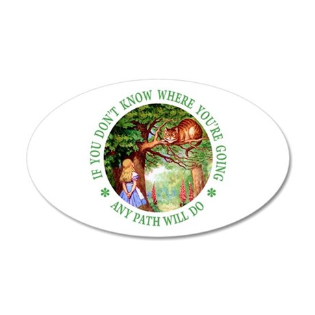 Any Path Will Do 20x12 Oval Wall Decal