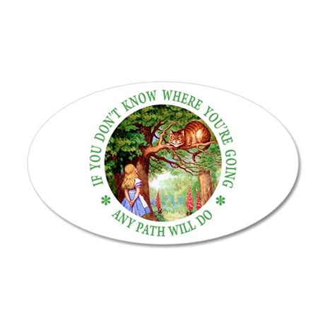 Any Path Will Do 35x21 Oval Wall Decal
