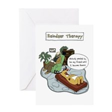 Reindeer Therapy Greeting Card
