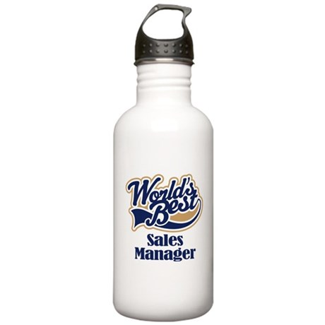 Sales Manager (Worlds Best) Stainless Water Bottle