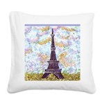 Eiffel Tower Pointillism by Kristie Square Canvas