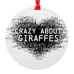 Giraffes Round Ornament
