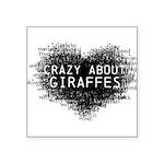 Giraffes Square Sticker 3