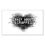 Giraffes Sticker (Rectangle)