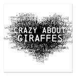 Giraffes Square Car Magnet 3