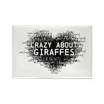 Giraffes Rectangle Magnet (100 pack)
