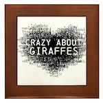 Giraffes Framed Tile