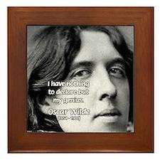 Playwright Oscar Wilde Framed Tile