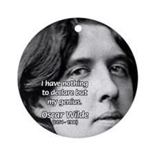 Playwright Oscar Wilde Ornament (Round)