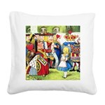 SQ ALICE QUEEN.png Square Canvas Pillow
