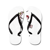 Electrician Construction Worker Cartoon Flip Flops