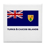 The Turks & Caicos Islands Flag Gear Tile Coaster