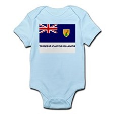 The Turks & Caicos Islands Flag Gear Infant Creepe