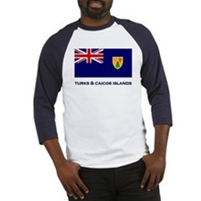 The Turks & Caicos Islands Flag Gear Baseball Jers