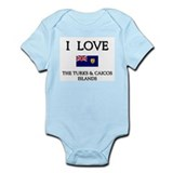 I Love The Turks &amp; Caicos Islands Infant Creeper