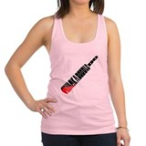 whack a doodle do blood.png Racerback Tank Top