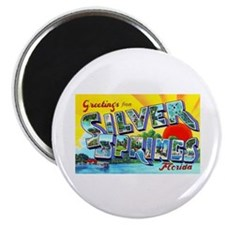 Silver Springs Florida Greetings Magnet