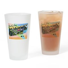 Union New Jersey Greetings Drinking Glass