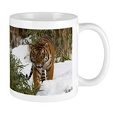 Tiger Walking in Snow Mug