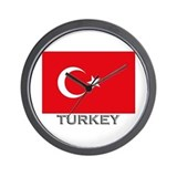 Turkey Flag Stuff Wall Clock