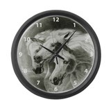 Pharaoh's Horses Large Wall Clock