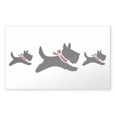 Holiday Scotties Decal