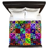 Crazy Quilt King Duvet