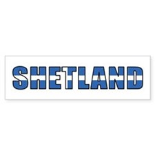 Shetland Islands Bumper Car Sticker