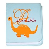 Cute Dinosaurs for kids baby blanket