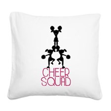 Cheer Squad Square Canvas Pillow